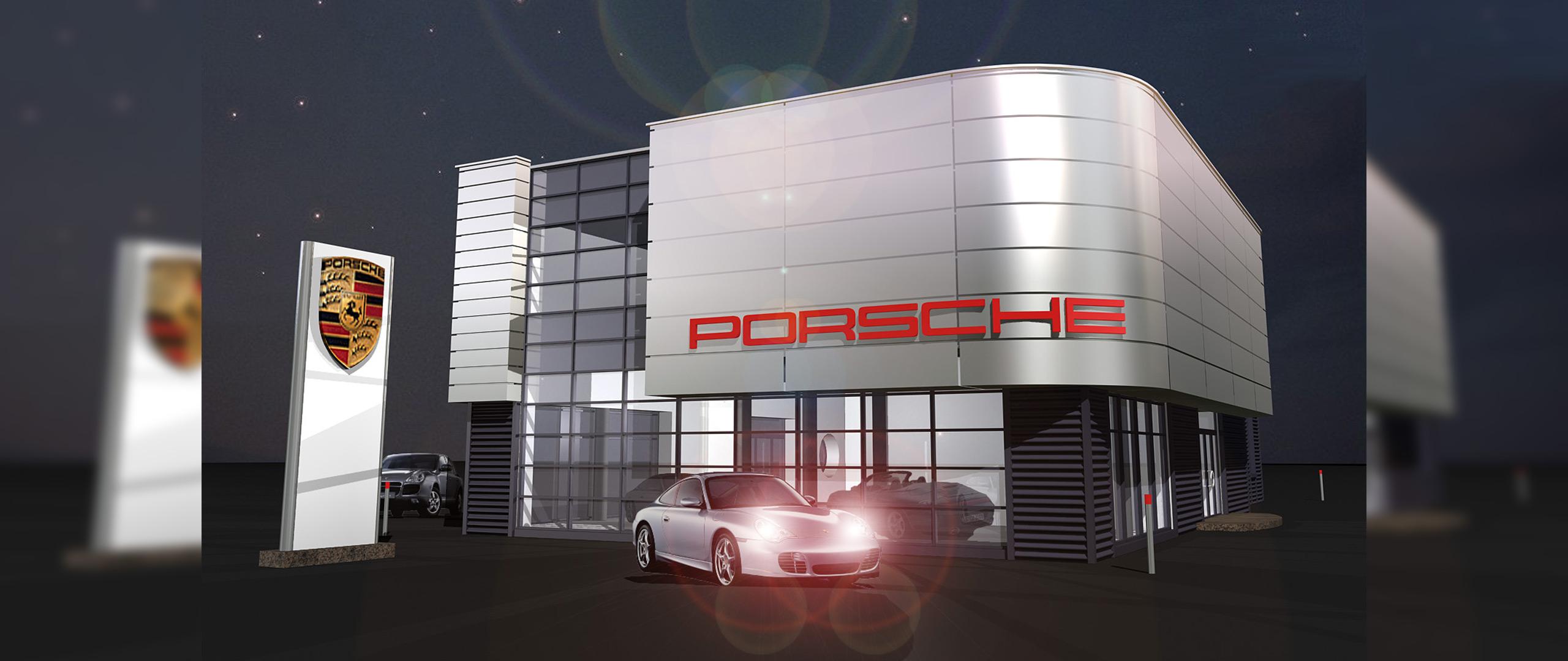 Salon Porsche – koncept