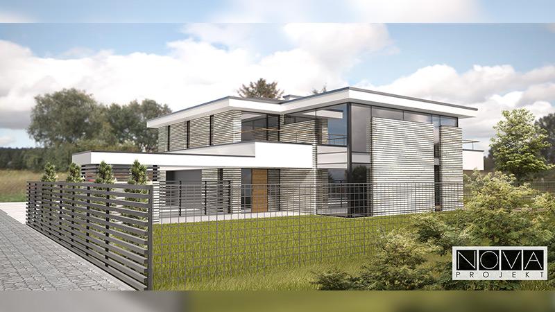Projekt domu jednorodzinnego z gabinetem lekarskim w Ożarowie Mazowieckim