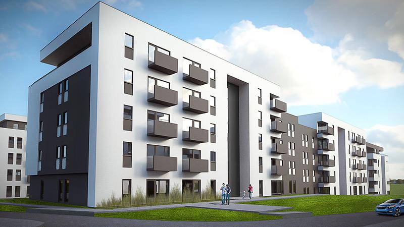 Koncepcja osiedla mieszkaniowego w Katowicach