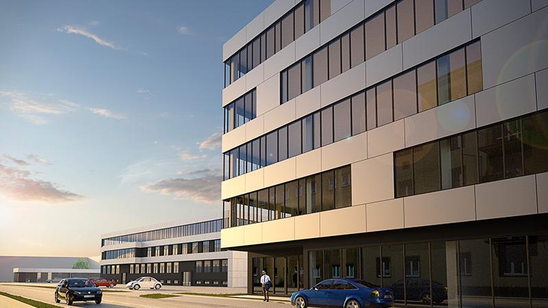 Koncepcja budynku biurowego w Gliwicach