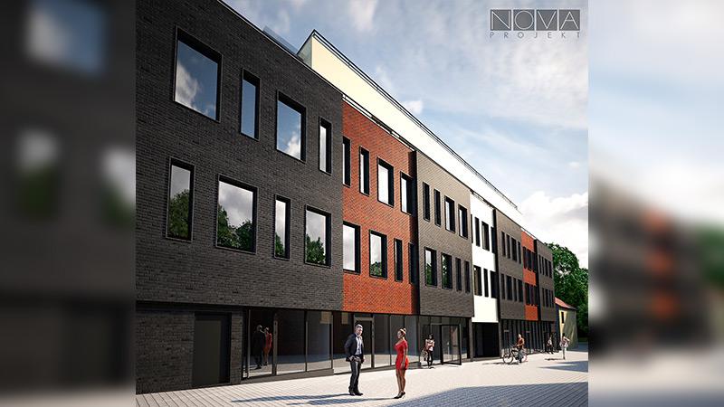 Koncepcja budynku usługowo – handlowo – mieszkalnego w Jaworznie